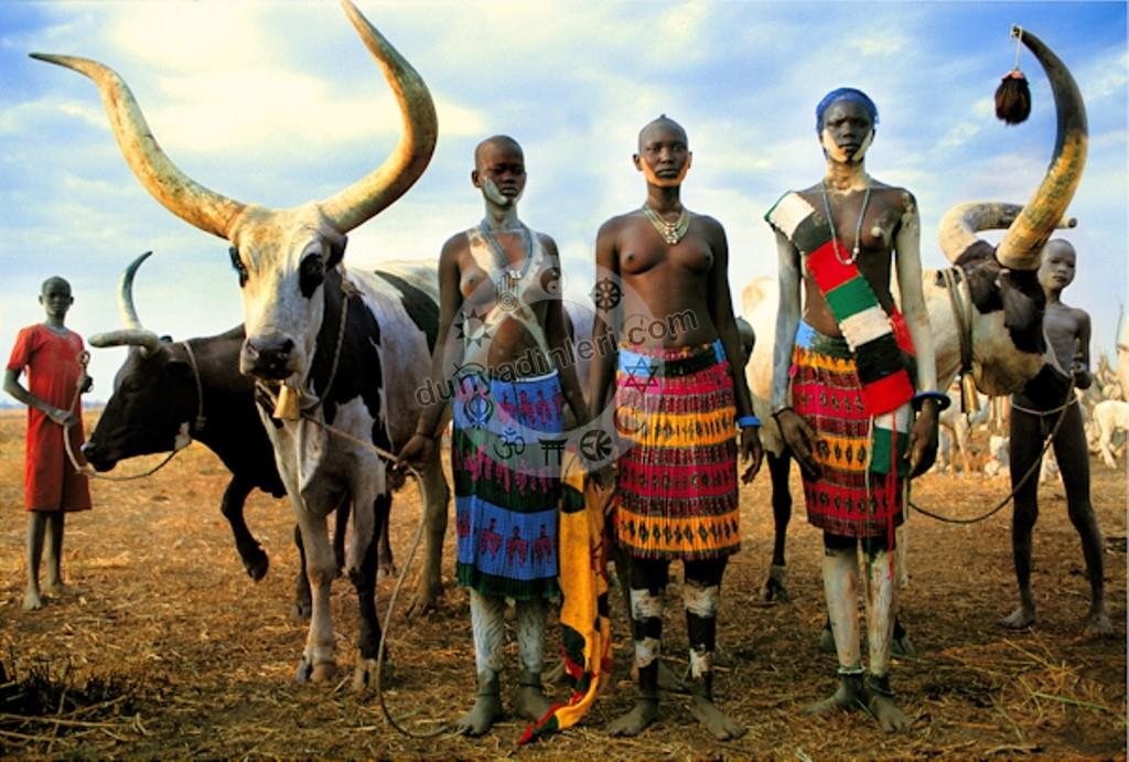 Dinka Kabilesi Dinka Tribe People